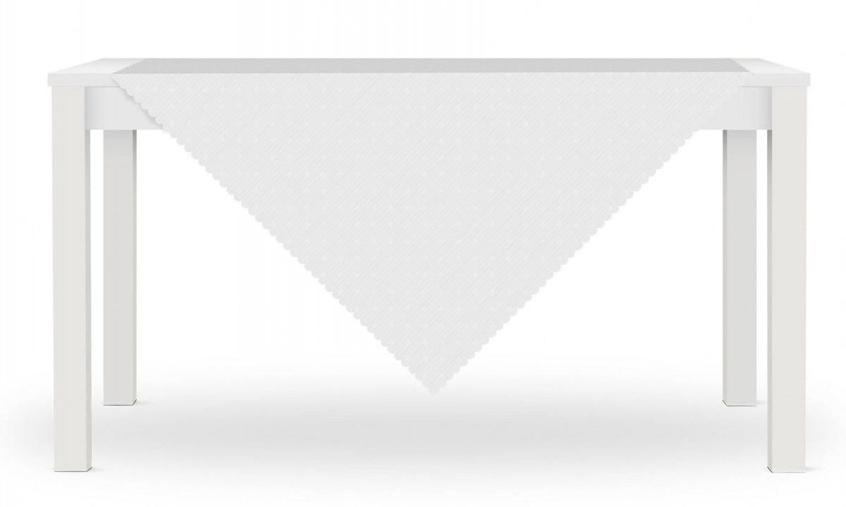 Obrus LORA 80x80 Biały Kreski