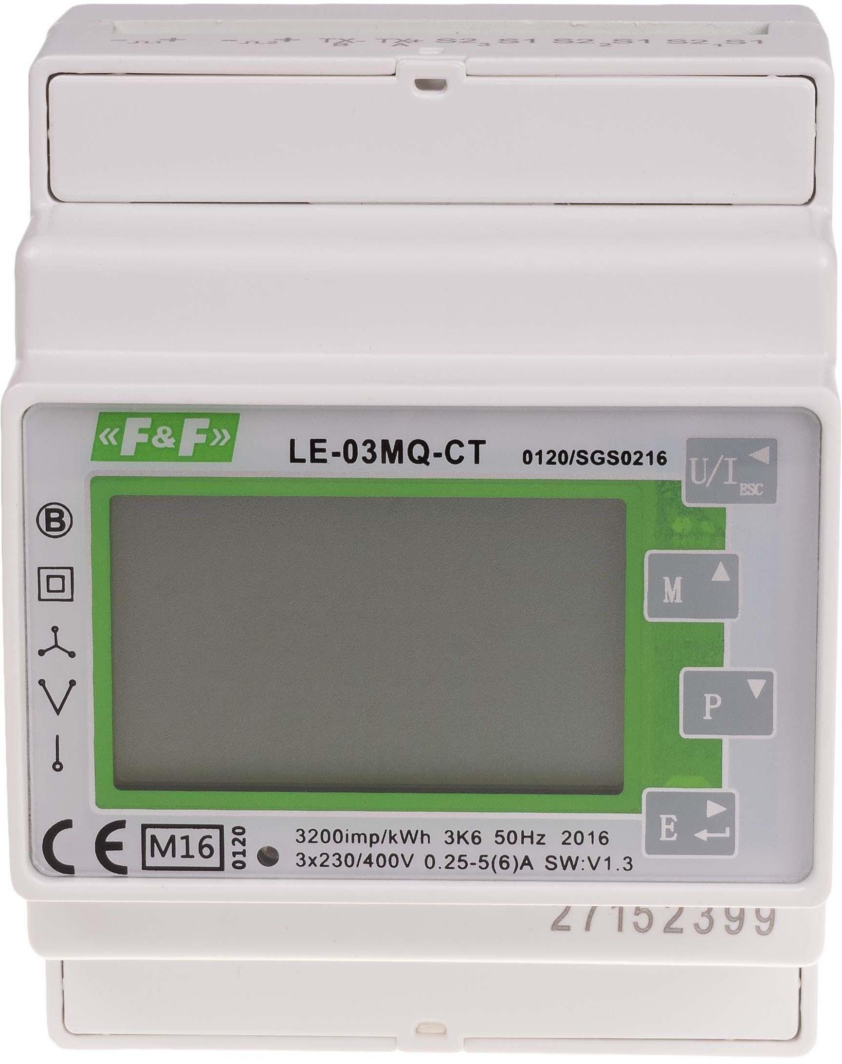 Trójfazowy dwukierunkowy licznik pośredni i półpośredni MODBUS RTU100 LE-03MQ-CT