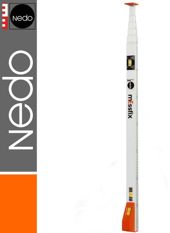 Przymiar teleskopowy podział mm/cale 0,70-3,00m mEssfix NEDO