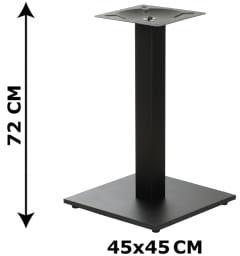 Podstawa stolika SH-2011-2/B, 45x45 cm (stelaż stolika), kolor czarny