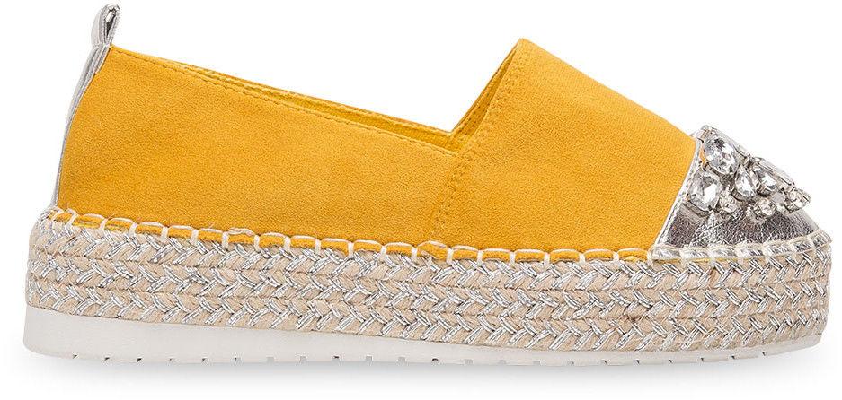 Espadryle damskie Bestelle L184 Żółte