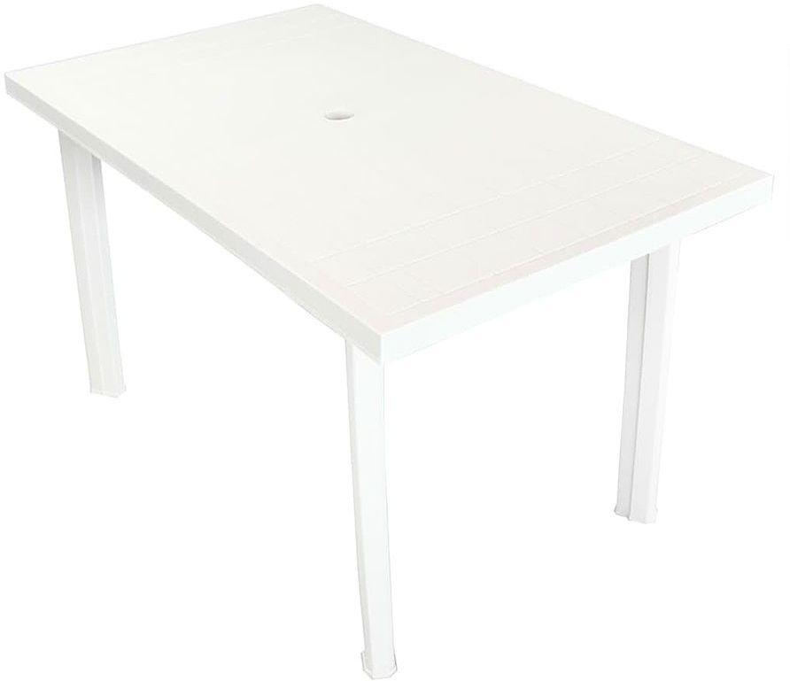 Praktyczny stół ogrodowy Imelda 2X - biały