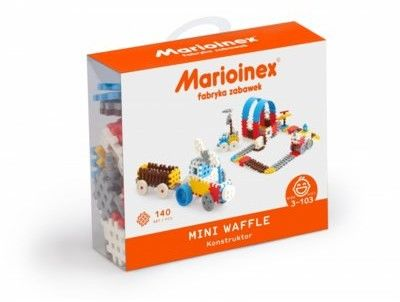 Klocki waffle mini 140 sztuk chłopiec