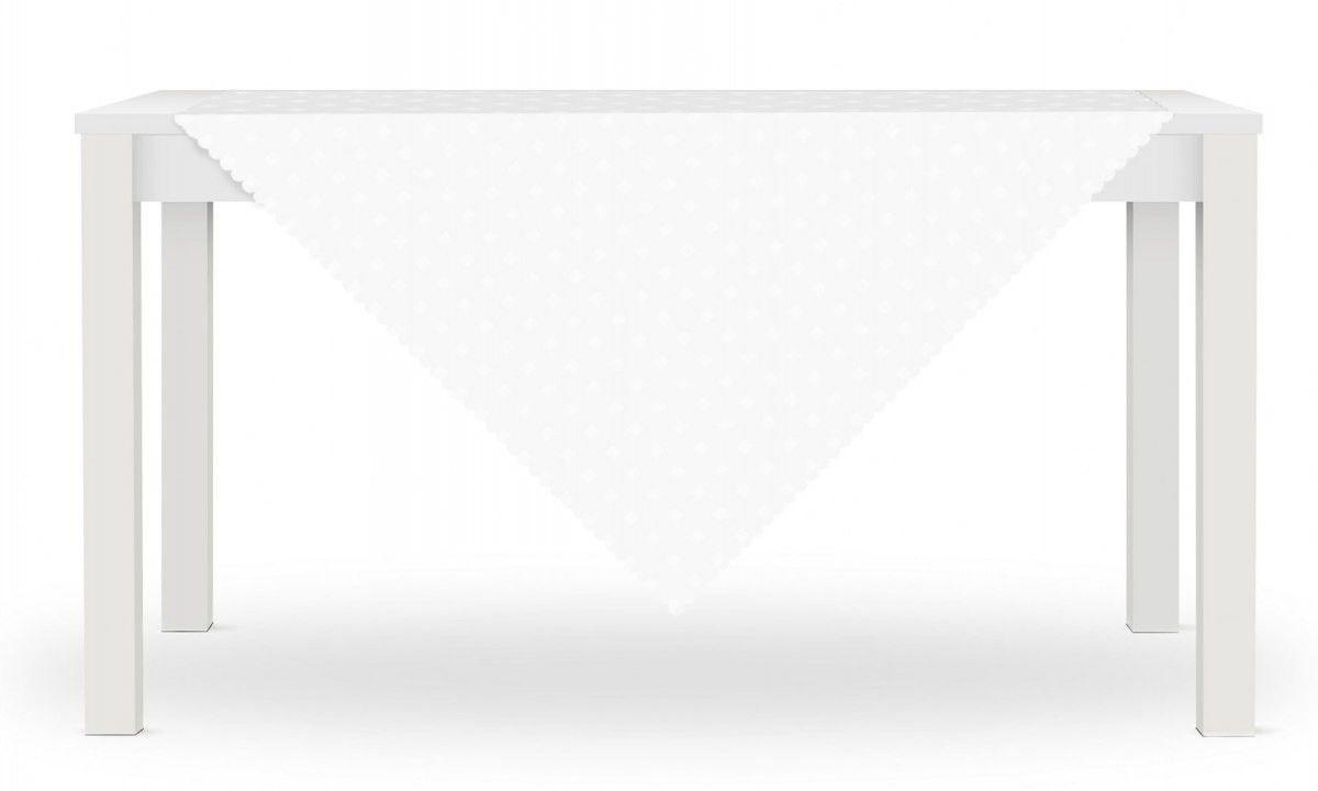 Obrus LORA 80x80 Biały Kwadraty