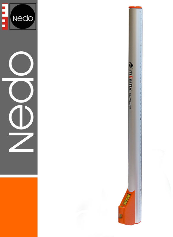 Przymiar teleskopowy z pokrowcem 0,60-3,04m mEssfix compact NEDO