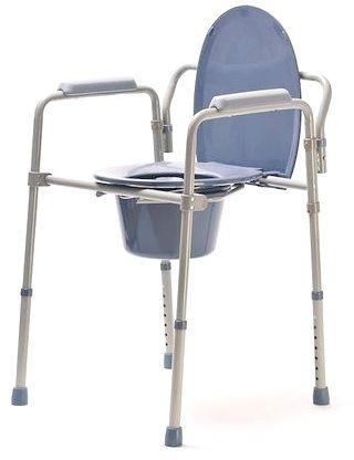 Krzesło TOALETOWE SANITARNE WC SEDESOWE 3w1 - SKŁADANE - wytrzymałość 136kg (tolskl)
