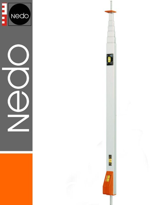 Przymiar teleskopowy z trzpieniem 0,80-3,10m mEssfix NEDO