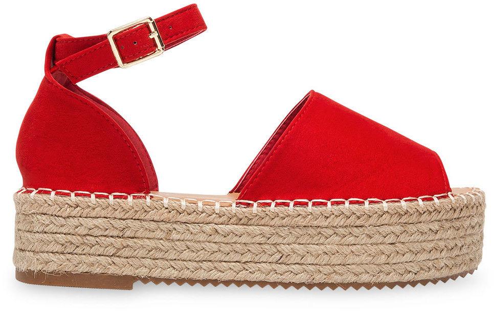 Sandałki damskie Bestelle 100-963 Czerwone