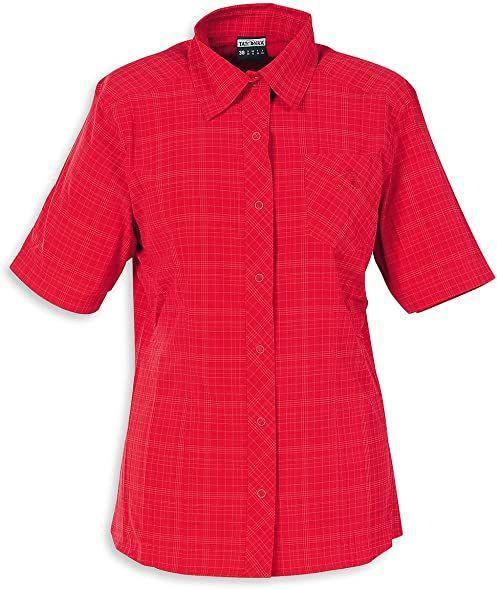 Tatonka Damska bluzka Marti Womens Short Sleeve Shirt, Red Carpet, 44