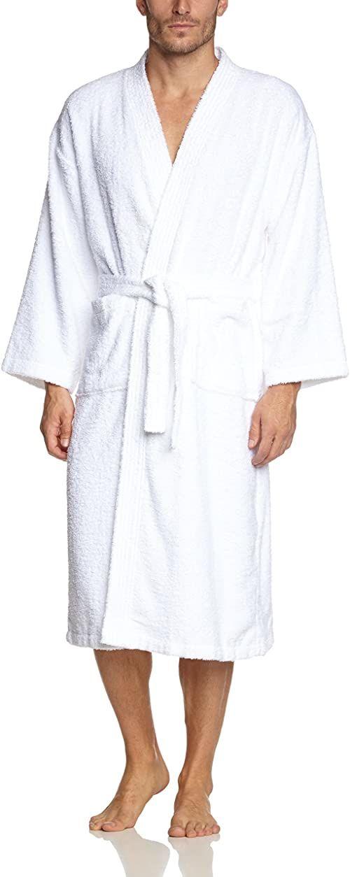 Buscher 20118-100-L szlafrok Kimono bawełna 400 g/m , biały