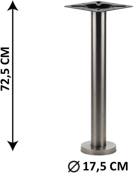 Podstawa mocowana do podłoża SH-3018-1/S, stal nierdzewna szczotkowana (do stołu, stolika, podłogi)