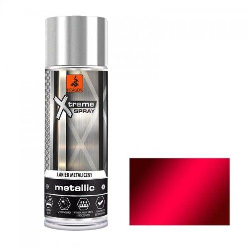 DRAGON Lakier metaliczny w aerozolu 400ml czerwony