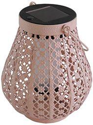 Mundus 35621 Casablanca metalowy różowy prowansalski lampion 13 x 13 x 18 cm