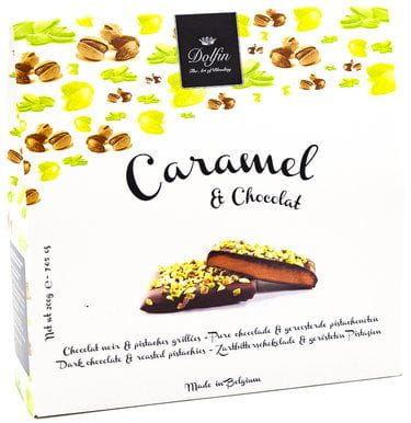 Bombonierka Caramel & Chocolat Prażone pistacje Dolfin 200g