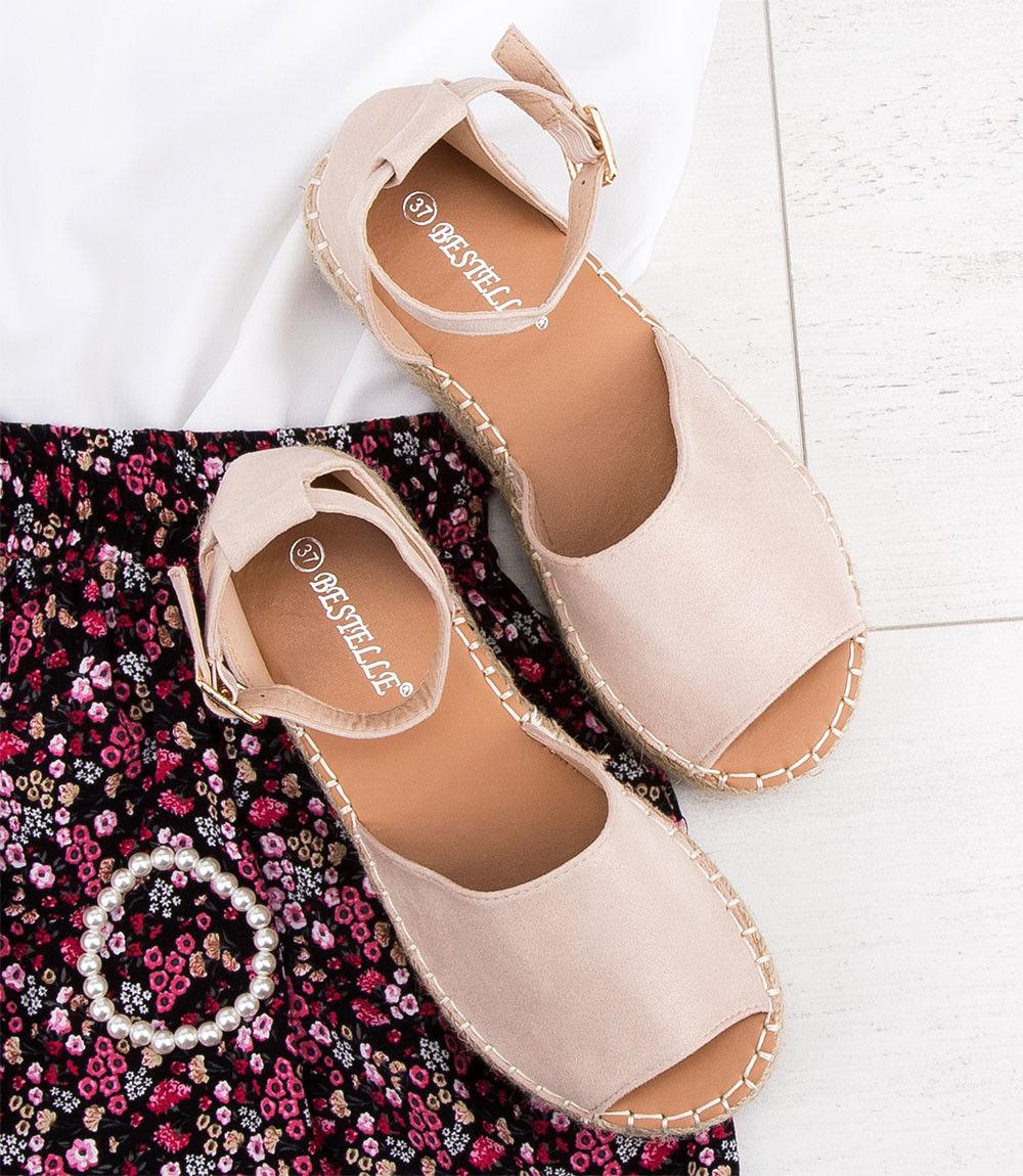 Sandałki damskie Bestelle 100-963 Beżowe