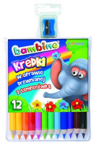 Kredki ołówkowe BAMBINO 12 kolorów