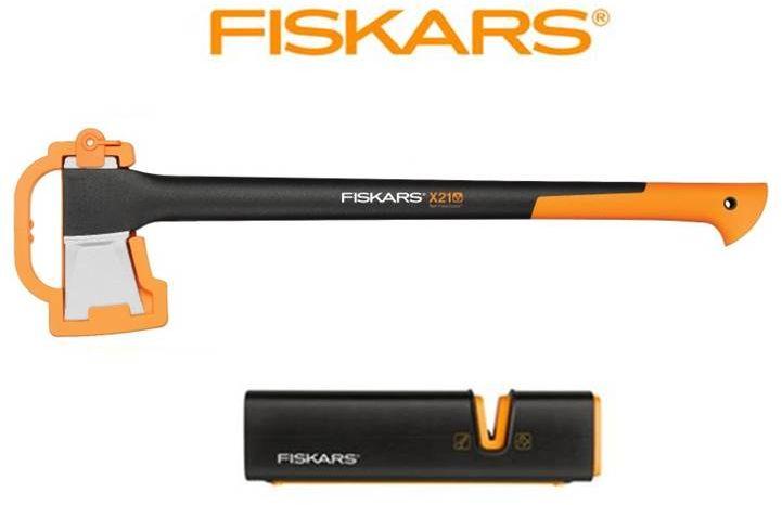 FISKARS Zestaw Fiskars siekiera X21 (L)+ostrzałka Xsharp