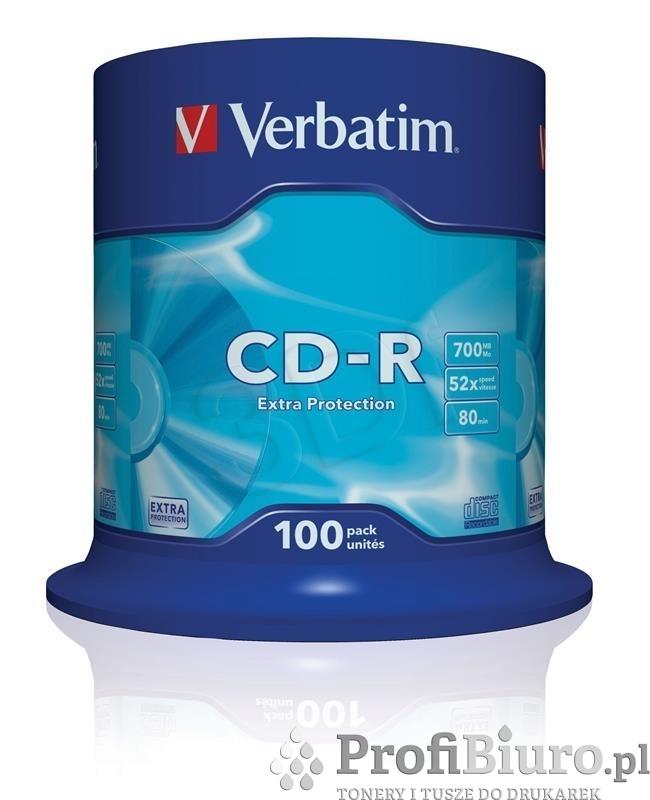 Płyty CD-R 700MB 52X EXTRA PROTECTION SP 100 szt.