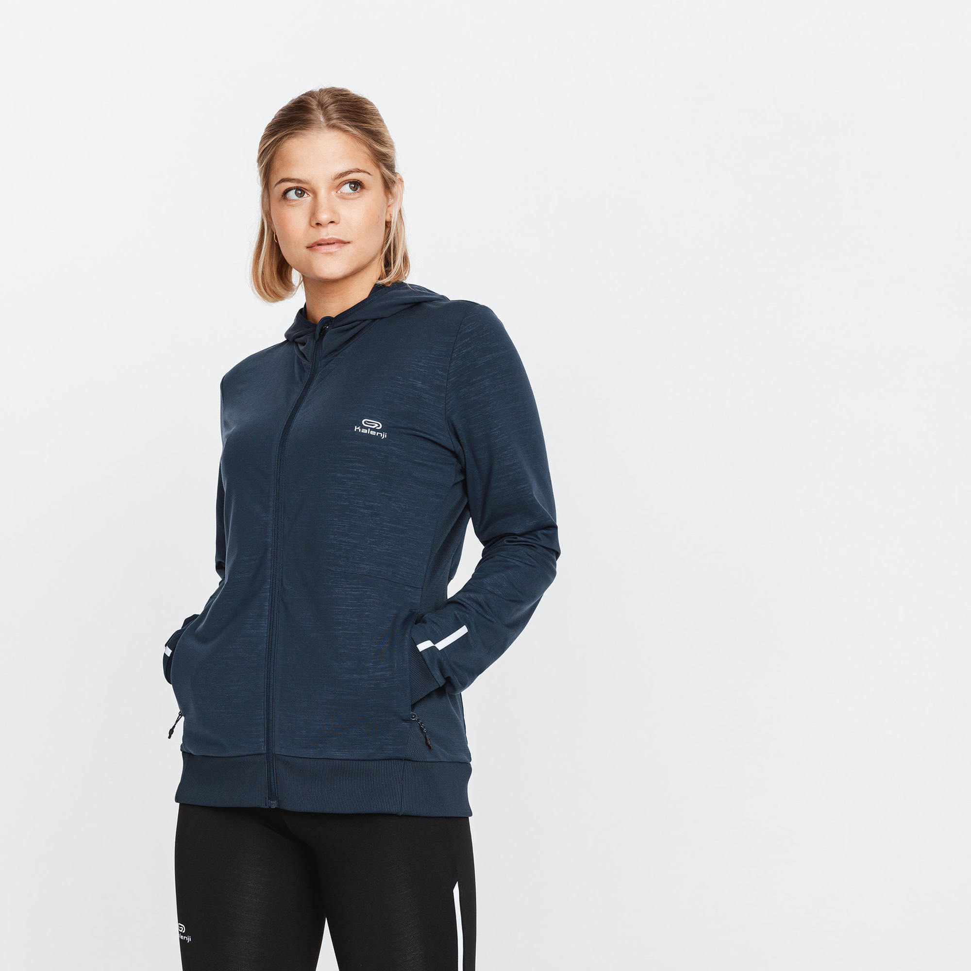 Bluza do biegania damska Kalenji Run Warm ocieplana