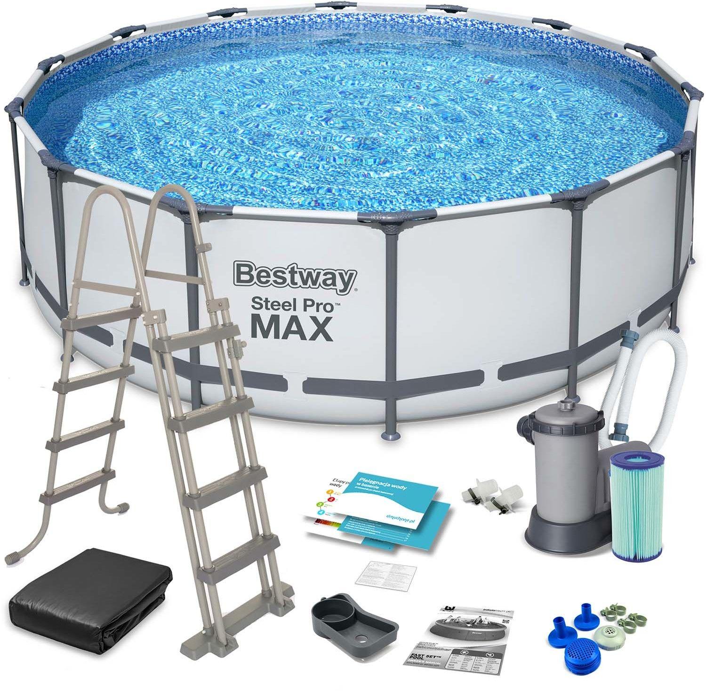 Bestway Basen ogrodowy stelażowy Steel Pro MAX 488 x 122 cm 5612Z