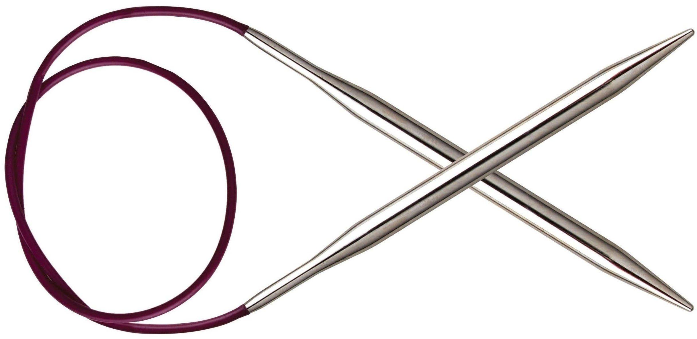 KnitPro Nova Metal: Szpilki dziewiarskie: Okrągły: Stały: 25 cm x 3,50 mm, galwanicznie pusty mosiądz, srebrny, 25 x 0,35 x 0,35 cm