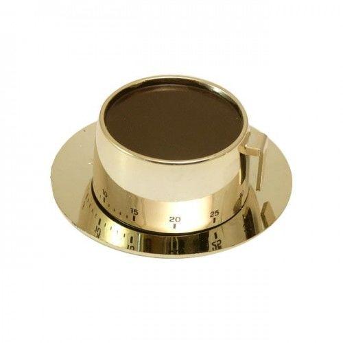 Minutnik mechaniczny złota filiżanka