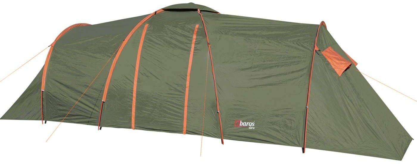 Namiot turystyczny Abarqs CLIF-6B Oliwka 6-osobowy dwie sypialki