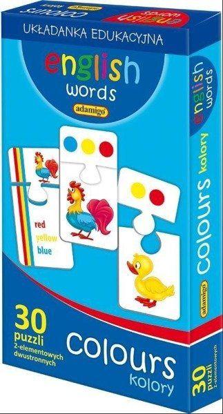 English words Colours - Adamigo