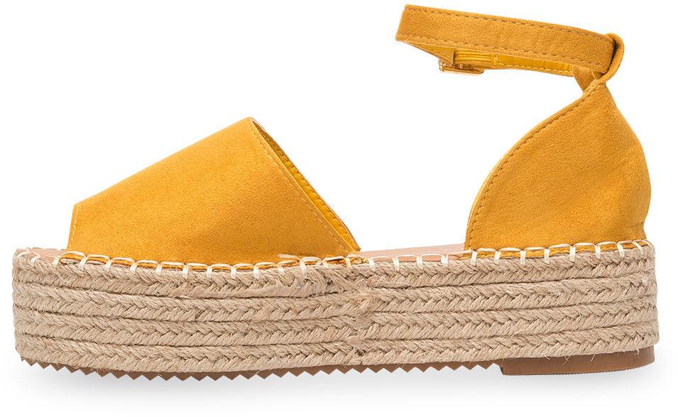 Sandałki damskie Bestelle 100-963 Żółte