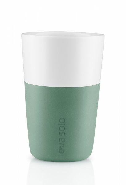 Eva Solo Filiżanka - Kubek do Kawy Latte 360 ml 2 Szt. Granite Green