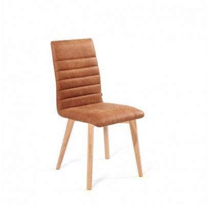 Krzesło malmo slim dębowe tapicerowane do salonu dowolny kolor