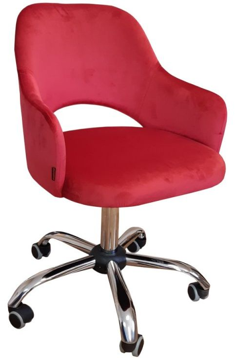 Fotel IZMA VELVET bordowy