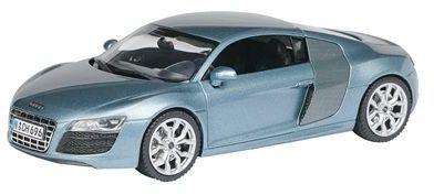 Schuco 450476600 - Audi R8 V10, niebieski metalik, model kolekcjonerski, 1:43