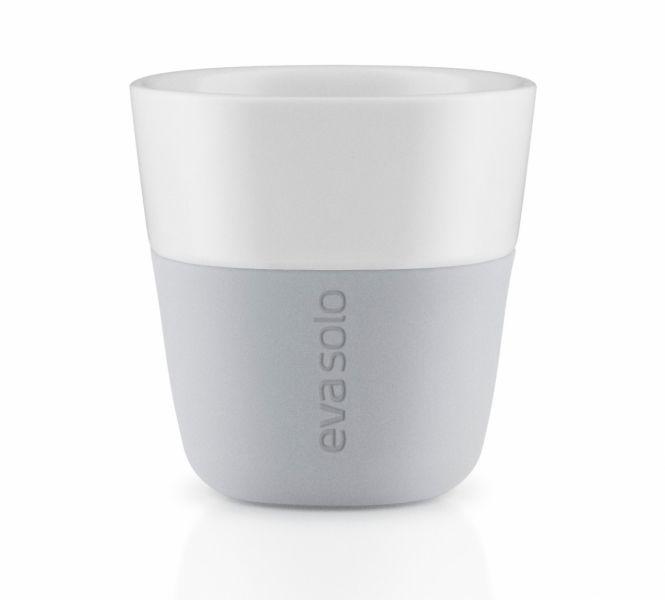 Eva Solo Filiżanki do Kawy Espresso 80 ml 2 Szt. Jasnoszary Marble Grey