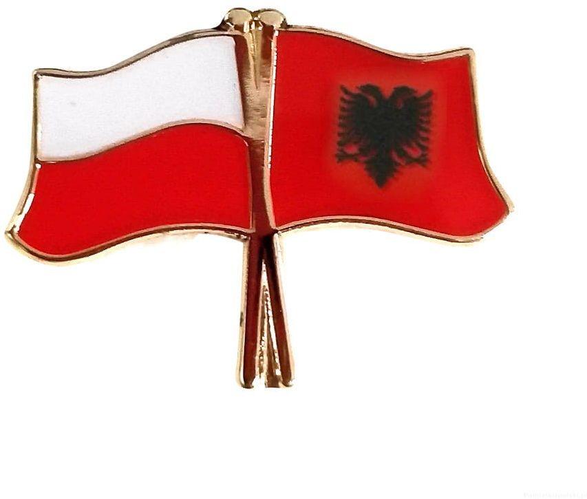 Przypinka Polska - Albania