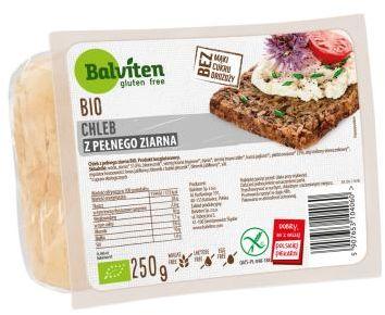 Chleb z pełnego ziarnia bezglutenowy BIO 250 g Balviten