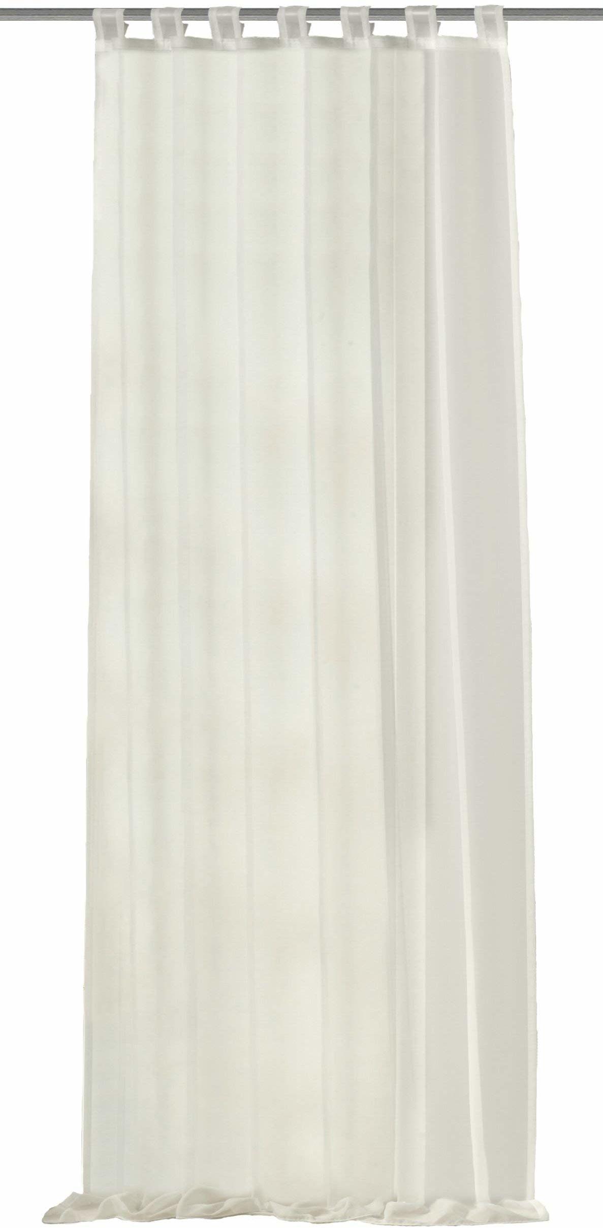 Home Fashion 48441-810 zasłona pętelkowa / woal Uni / 245 x 140 cm