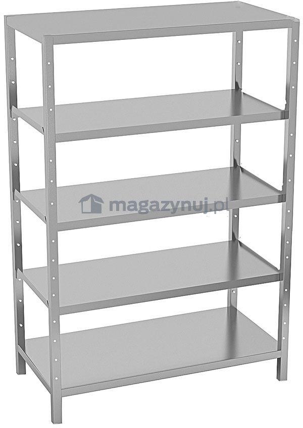 Regał warsztatowy wym. 1350 x 2000 x 400 mm, ładowność 200 kg na półkę (półki 5)