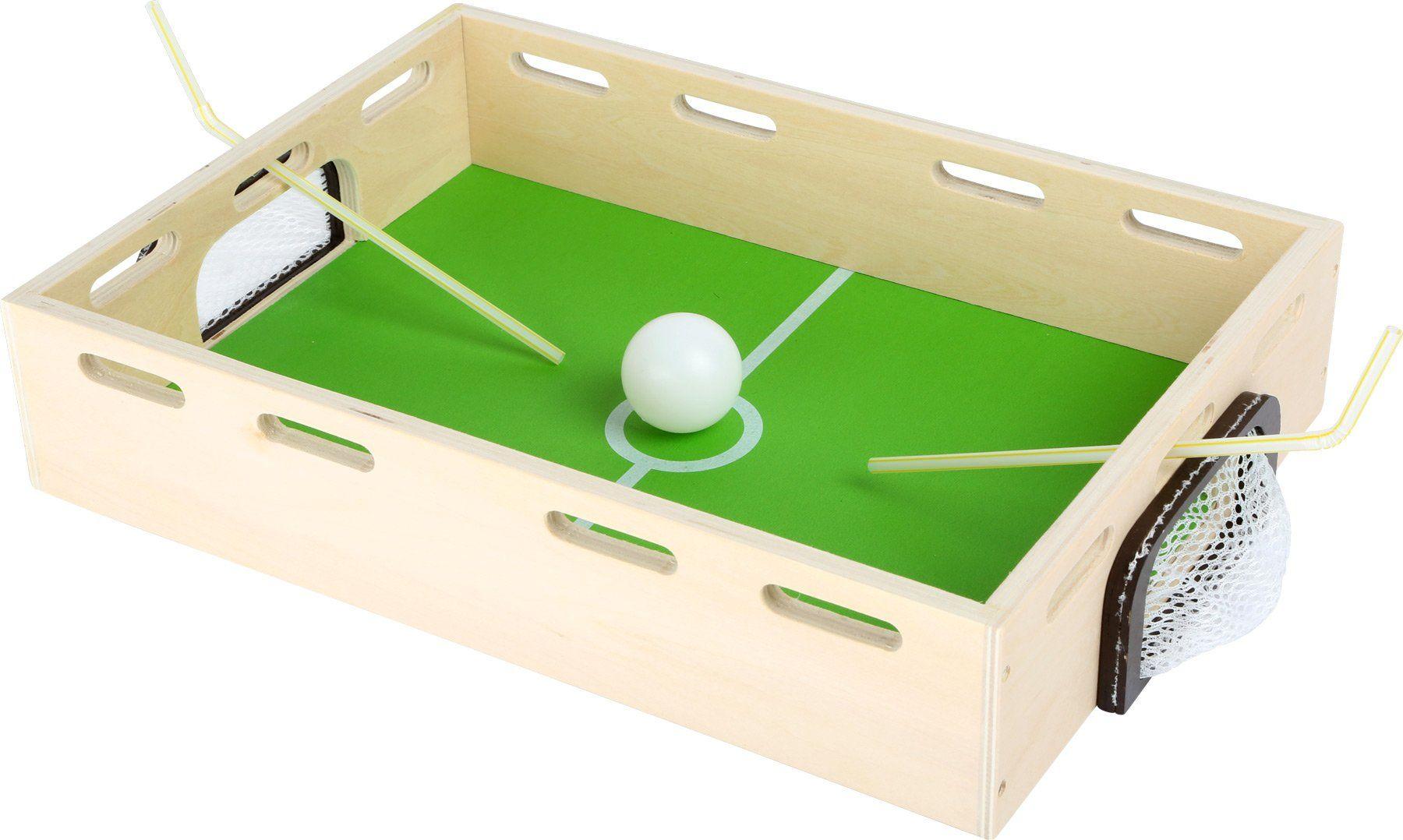 Small Foot by Legler 2019758 foot 6409 drewniane pudełko z dmuchawcem, gra zręcznościowa i wytrzymałościowa, dla dużych i małych, od 3 lat