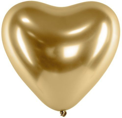 Balony glossy serca złote 27cm 5 sztuk BAL8888