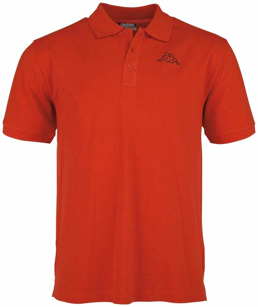 Kappa Męska koszulka polo, 540 Scarlet, XL
