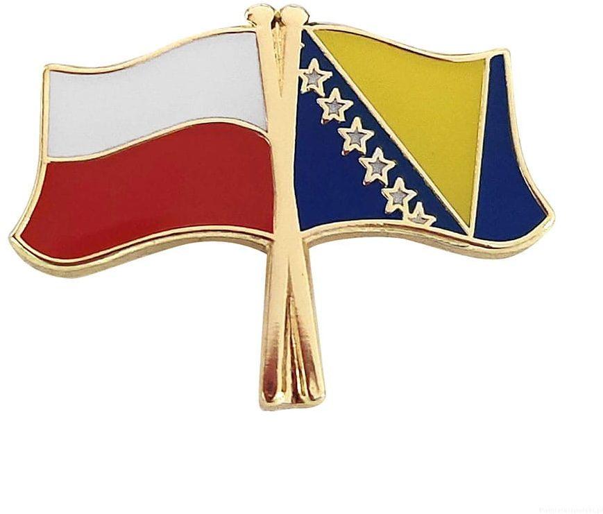 Flaga Polska - Bośni i Hercegowina, przypinka