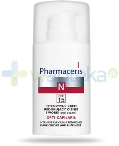 Pharmaceris N Opti-Capilaril krem redukujący cienie i worki pod oczami 15 ml [KUP 2 produkty Pharmaceris N = Tonik-mgiełka wzmacniający naczynka 1 sztuka]