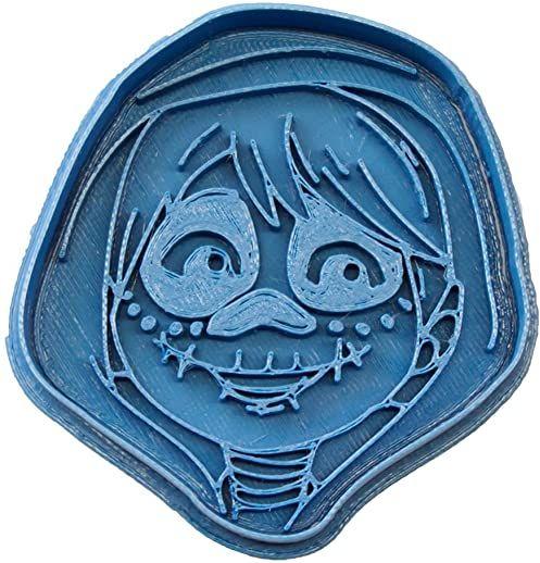 cuticuter Miguel Czaszka Filmu foremka do ciastek kokosowych, niebieski, 8 x 7 x 1,5 cm
