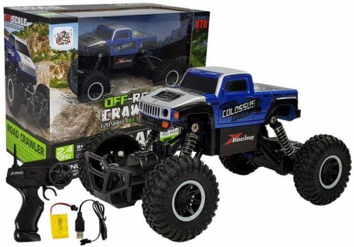 Zdalnie sterowany Monster Truck 1:20 Niebieski