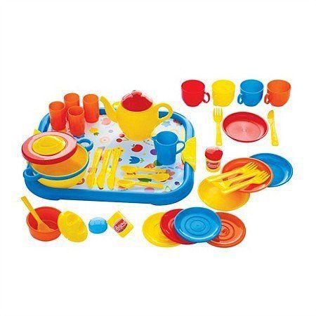 Zestaw kuchenny dla dzieci do zabawy, 40 części, Gowi - zabawki dla dziewczynek