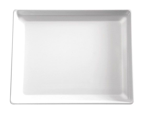 Taca prostokątna z melaminy biała różne wymiary