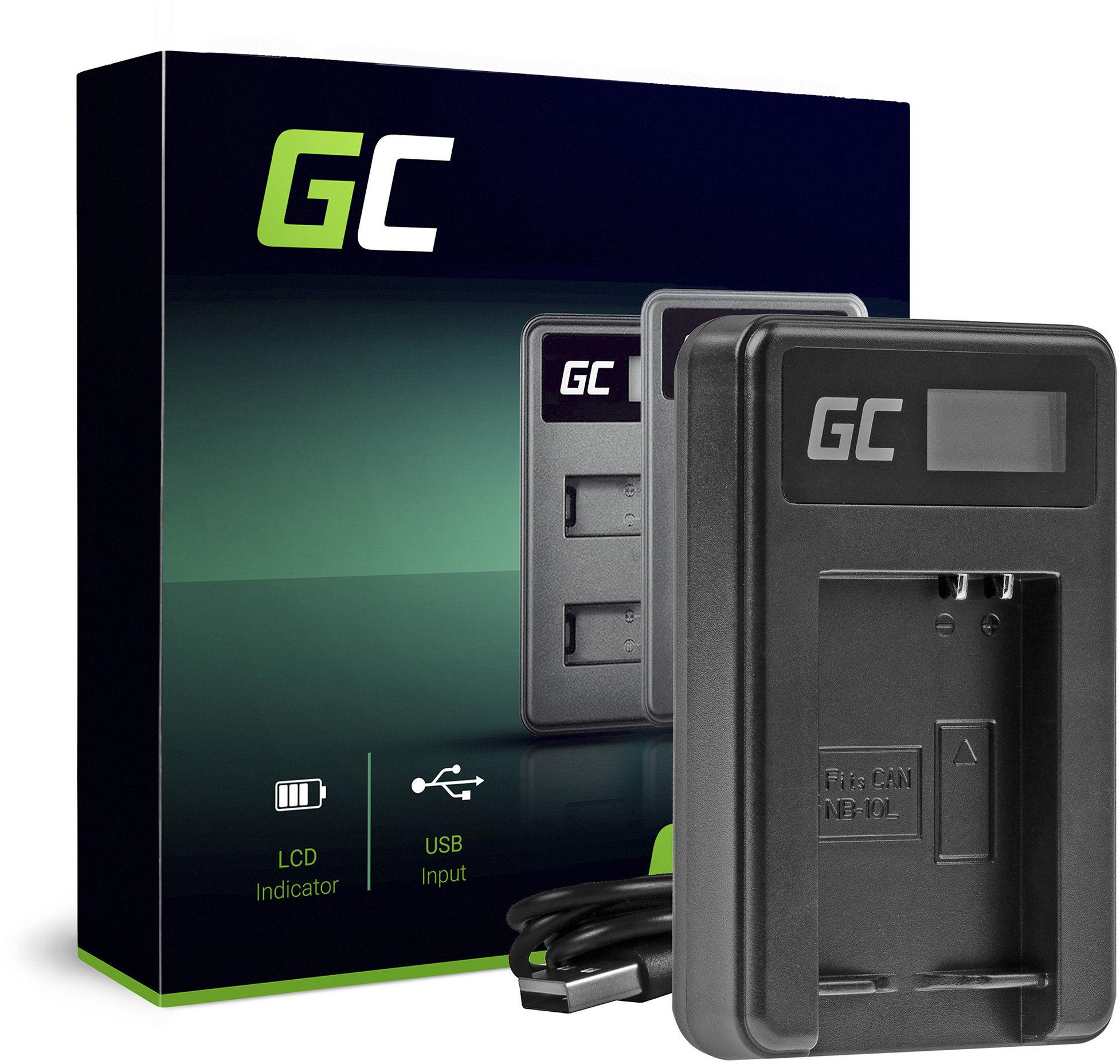 Ładowarka CB-2LCE Green Cell  do Canon NB-10L, PowerShot G1 G3 G10 G15 G16 G1X G3X SX40HS SX50HS SX60HS (5W 8.4V 0.6A)