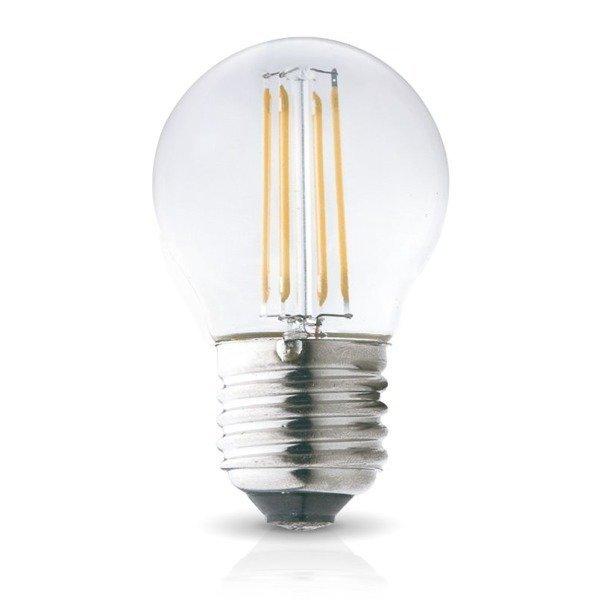 Żarówka FILAMENT LED E27 4W ciepła 3000K G45 kulka