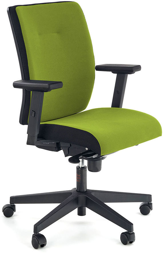 Zielony tapicerowany fotel biurowy - Revex